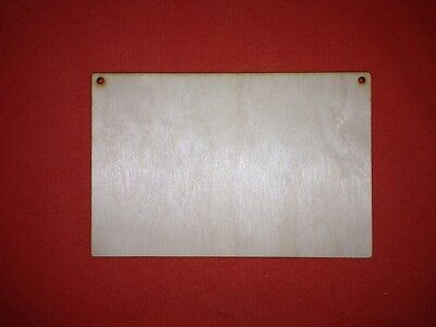 PLAQUE 15 x 10cm BLANK WOODEN PLAIN UNPAINTED HANGING DOOR WALL SIGNS TAG