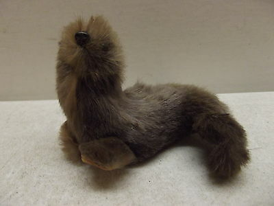 Vintage Original Rabbit Fur Animal Made In W West Germany Seal Figurine W/label