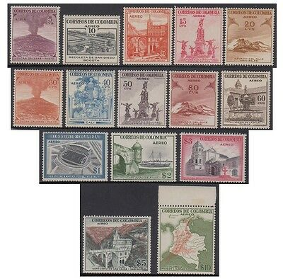 COLOMBIA stamps 1954 Air Mail, different subjects (YT.238/52) 15v.  MNH -F287