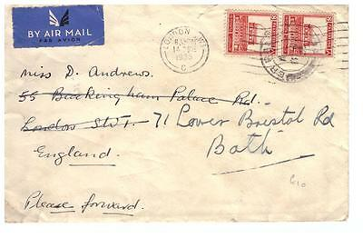 shop545 Palestine 1935 cover to London redirected