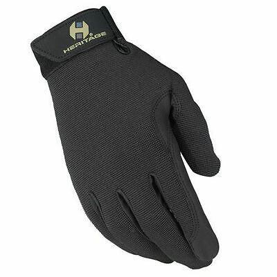 Heritage Performance Riding Gloves - All Sizes & Kids - BLACK