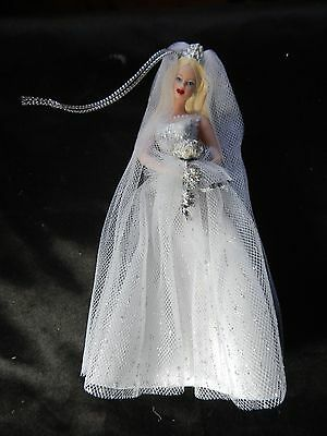 NIB Avon Ornament Barbie Millennium Bride Porcelain Ornament Avon Exclusive Cert