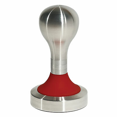 Coffee Tamper, Stainless Steel, 58mm, Guineau Red, Crema