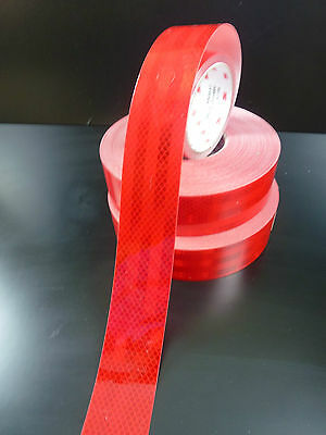 3M™   RED  REFLECTIVE TAPE DIAMOND GRADE  50MM x 5 METRES NEW