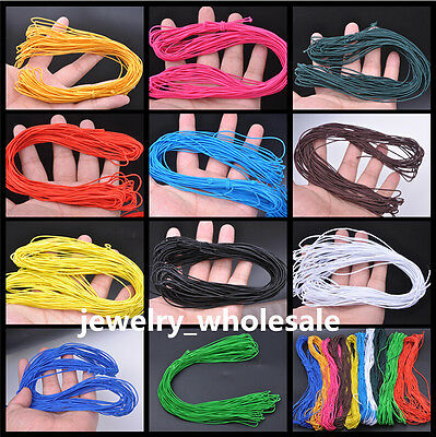 15meter 1MM Shock Cord Round Elastic Stretch Beading String 11 Color U Pick