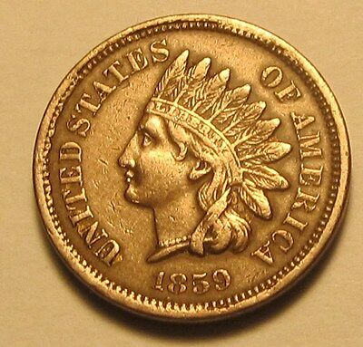 1859 INDIAN HEAD CENT,FULL LIBERTY,VERY NICE COIN!!!(K)