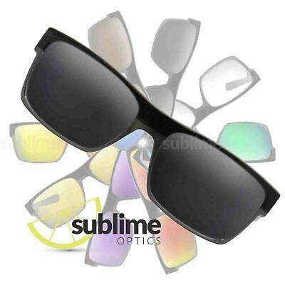 POLARIZED Black (Dark Grey) Replacement Lenses For Oakley Twoface ~ charcoal