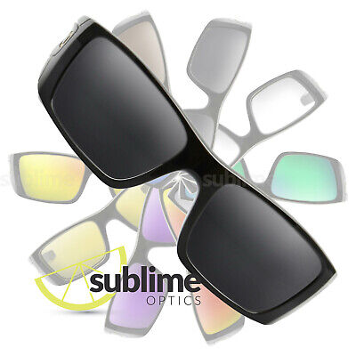 POLARIZED Black (Dark Grey) Replacement Lenses For Oakley Fuel Cell ~ OO9096