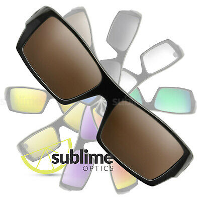 POLARIZED Dark Brown Replacement Lenses For Oakley Gascan ~ Bronze