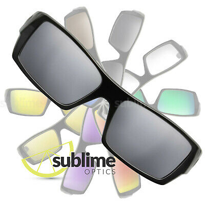 POLARIZED Metallic Silver Mirror Replacement Lenses For Oakley Gascan