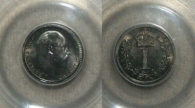 1907 Silver Great Britain 1 Pence Maundy Pcgs Mint State 67 Only 8,760 Minted