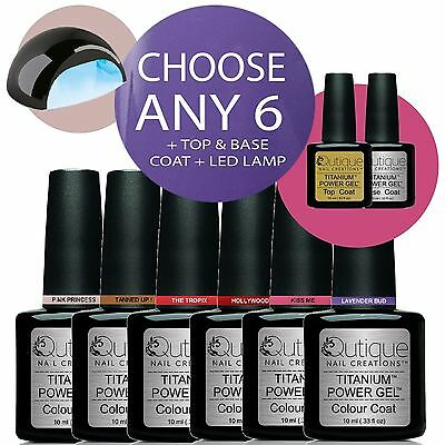 Professional LED Lamp Gel Nail Polish Kit-ANY 6 Colours