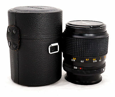 Konica UC Hexanon AR 28mm F1.8 Wide Angle Manual Lens w/ Hood in leather cases