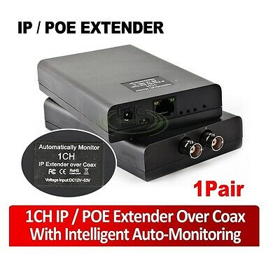 Ethernet over Coax (EoC) Kit - IP Surveillance Video on Coaxial Cable over 1950m