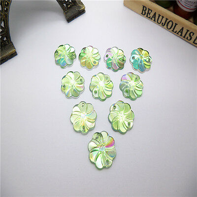 New DIY 50pcs AB 12MM Resin flatback Scrapbooking for sewing  holes Buttons TV72