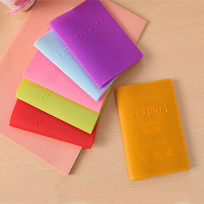 Silicone Travel Passport Protect Cover Card Cover ID Holder Case