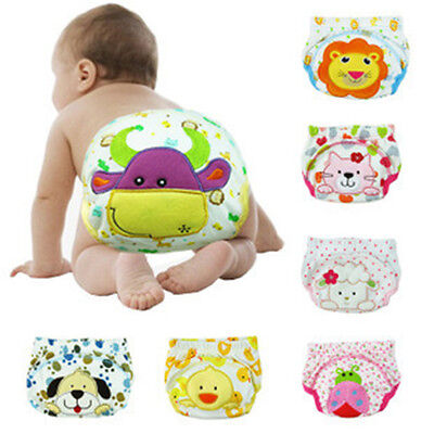 Baby Boy Girl Infant Toilet Pee Potty Training Pants Cloth Diaper Underwear SK