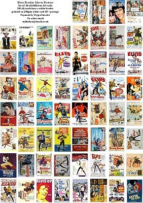 Elvis Presley Movie Posters -60 All Different A6 Art Cards