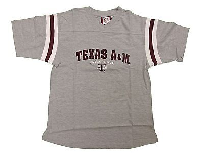Texas A&m Aggies Adult Grey Short Sleeve Color Band Design T-Shirt New
