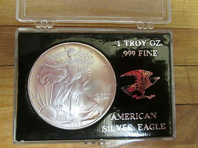 1992 American Eagle/Walking Liberty Silver Dollar 1 Troy Oz W Plastic Case
