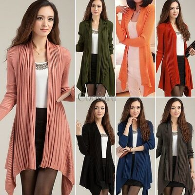 New Women Batwing Sleeve Knitted Cardigan Loose Casual Sweater Jacket Coat