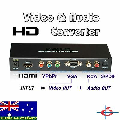 HDMI to YPbPr Component Video Converter + Digital SPDIF & RCA Audio Out, HD 3D