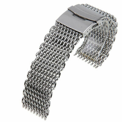 STAINLESS STEEL DIVE SHARK MESH MILANESE WATCH BRACELET STRAP 18 20 22 24mm