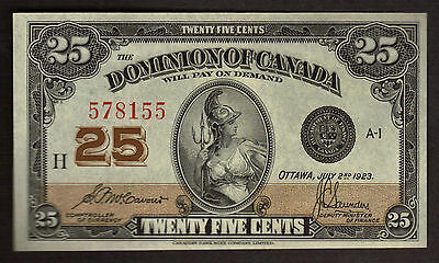 Canada 1923 DOMINION OF CANADA  25 Cents McCavour-Saunders  DC-24c 578155 H  UNC