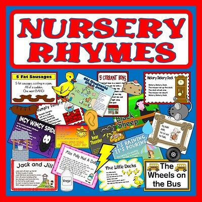 Cd Nursery Rhymes Teaching Resources Role Play Props Posters Poems Humpty Dumpty