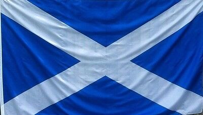 Scotland St Andrews Scottish Flag Saltire 8 x 5 ft Polyester ONLY £7.89