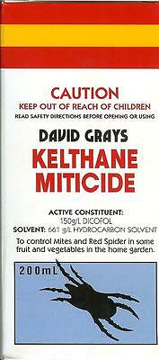 Kelthane Miticide Spray 200mL David Grays Dicofol Mites Insects Spider Killer