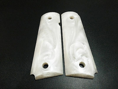 COLT 1911 GRIPS Fit For Pearl Custom Full Size Kimber Clone Springfield Resin