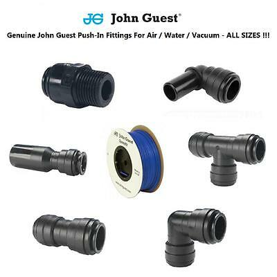 Push Fit Air Fittings Genuine John Guest 6 8 10 12 15 Air/Water Tube & Hose BLUE