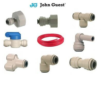 "1/4"" John Guest Pipe Speedfit Water Filter Push Fit Tap Connectors Filter RED"