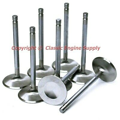 """Chevy 283 327 305 350 ELGIN Stainless Exhaust Valves Set 1.6 .100/"""" 5.01 length"""