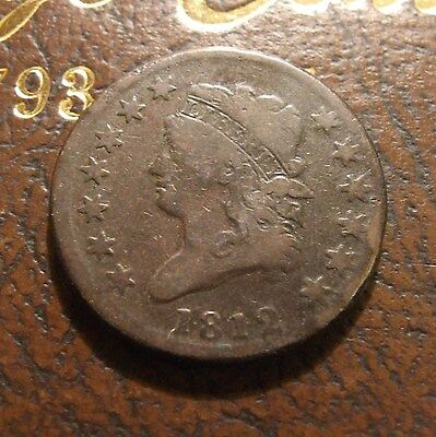 1812 Classic Head Large Cent, S-290