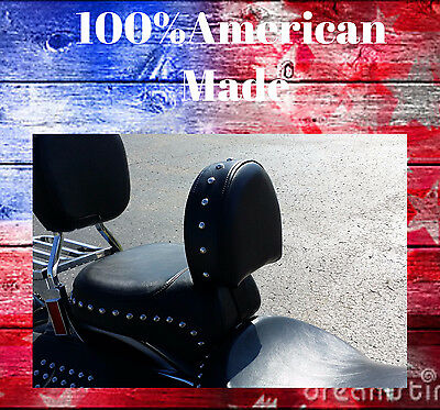 American Made Harley 07-17 Heritage Softail/Fatboy Driver Backrest EZ ON/OFF
