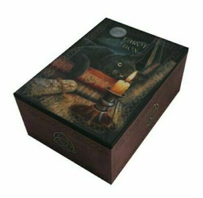 Witching Hour Black Cat Tarot Trinket Box by Designer Lisa Parker Nemesis