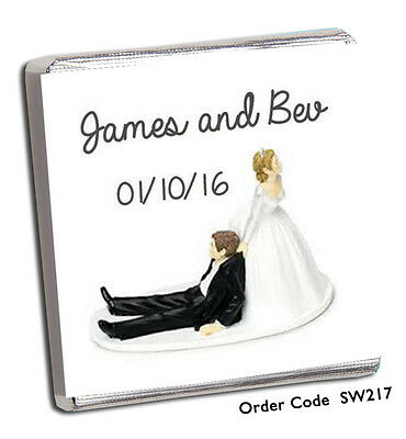 50 Personalised Chocolate Wedding Favours And Free Chocolate!