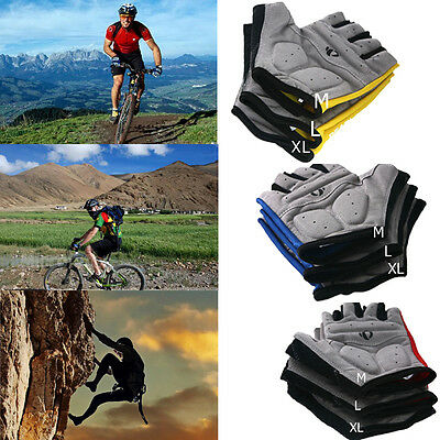 Outdoor Bike Cycling Riding Antiskid Gel Half Finger Gloves Bicycle Mountain New
