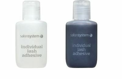 Salon System Semi-Permanent Individual Eyelash Lash Adhesive CLEAR BLACK Glue