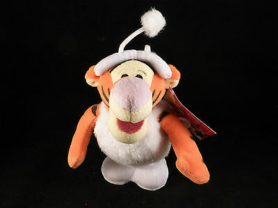 "Official Disney Plush Christmas Snowball Toy Wind n Hop Tigger BNWT (approx 6"")"