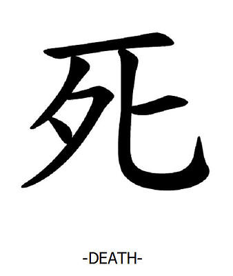 Framed Print Chinese Writingsymbol War Picture Poster Typography