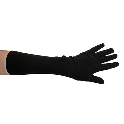 Long Elbow Length Black Costume Gloves ~ HALLOWEEN THEATRICAL PROM DANCE PARTY