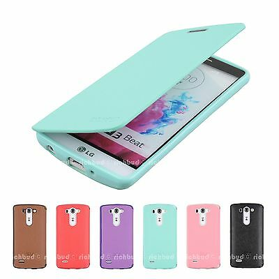 New Leather Wallet Jelly Flip Slim Case Cover For LG Phones