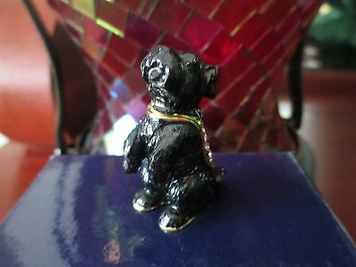 Jock ~ The Scottie Pup ~ Jeweled & Enamel Trinket Box ~ Boutique Miniature 61127