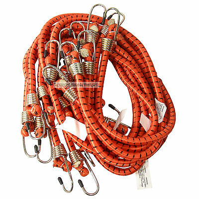 """10 PK Heavy Duty 36"""" 3' Long x 1/2"""" Dia Thick Bungee Cords Tie Down Cord Strap"""