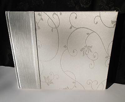 Guest Book OR Wedding Photo Album Victorian Style Ivory Silk Satin Embroidered