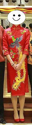 Shanghai Xu Cheong-sam Dress (Qipao Dress) Silk&Hand embroidery