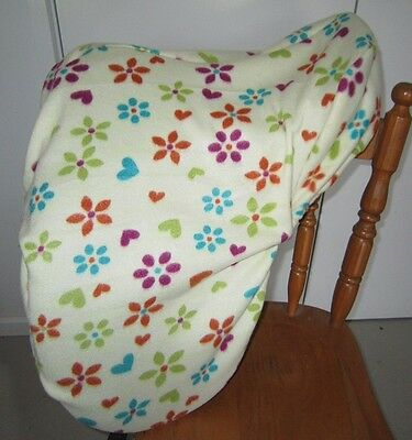 Horse Saddle cover Lemon Flowers Hearts & FREE EMBROIDERY Aussie Made Protection